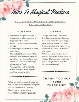 Intro to Magical Realism Interactive Presentation