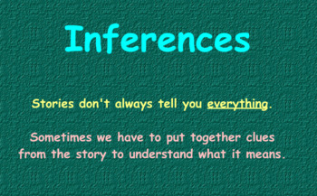 Intro to Making Inference Activboard Flipchart