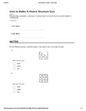 Intro to Matter & Atomic Structure Quiz
