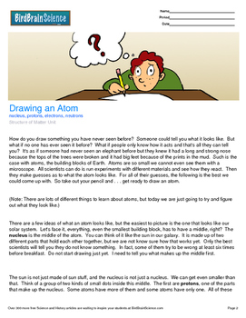 Intro to Matter, Drawing an Atom - Engaging Science Reading