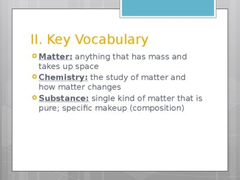 Intro to Matter Notes