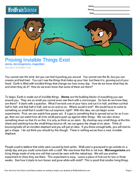 Intro to Matter, Proving Invisible Things Exist - Engaging Science Reading