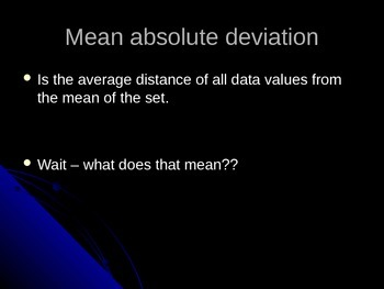 Intro to Mean Absolute Deviation