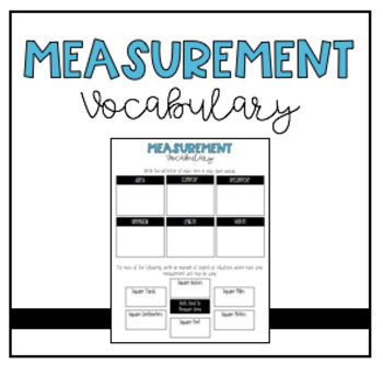 Intro to Measurement Vocabulary