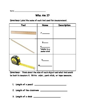 Intro to Measuring Length: Tools and Riddles