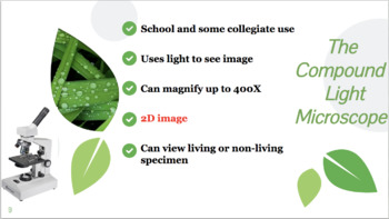 Intro to Microscopy Slides (powerpoint) - Types of Microscopes and Scientists