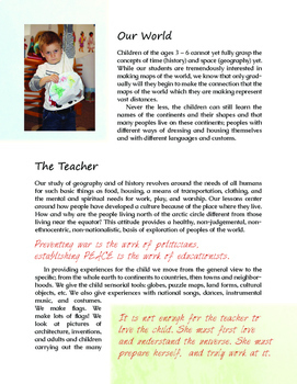 Intro to Montessori - Chapter 11 (Geography)