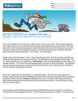 Intro to Motion, MOVE FASTER (or slower) - Engaging Science Reading