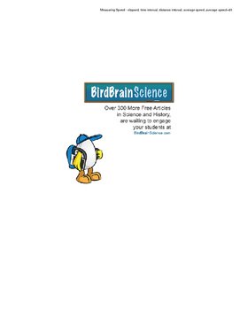 Intro to Motion, Measuring Speed - Engaging Science Reading