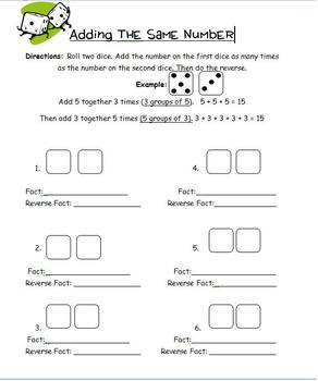 Intro to Multiplication: Adding the Same Number