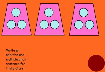 Intro to Multiplication Kooshball Smartboard Game-3.OA.A.3 arrays and pictures