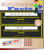Intro to Multiplication Math SmartBoard Whiteboard File Learn to multiply facts