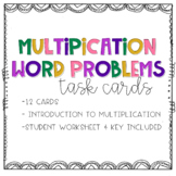 Intro to Multiplication Word Problem Task Cards
