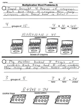 Intro to Multiplication Word Problems