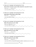Intro to Multiplication Worksheet for with manipulatives