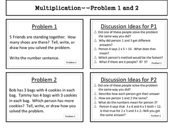 Intro to Multiplication using Story Problems