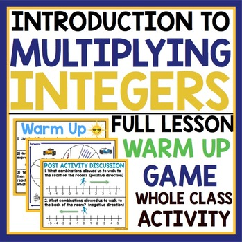 INTRODUCTION TO MULTIPLYING INTEGERS