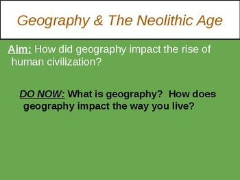 Effects of Neolithic Revolution PPT