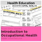 Intro to Occupational Health - No Prep, Career Lesson Plans