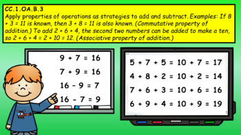 Intro to Operations and Algebraic Thinking for First Grade