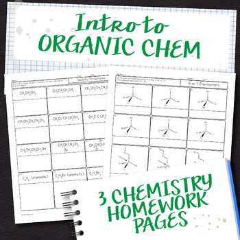 Intro to Organic Chemistry Homework Pages