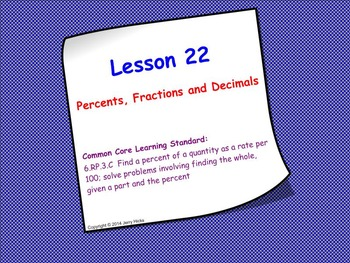 Intro to Percents; SMART Board Lesson