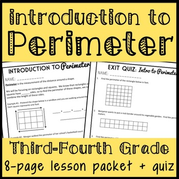 Intro to Perimeter, Finding Perimeter through Counting, 8 page lesson packet!