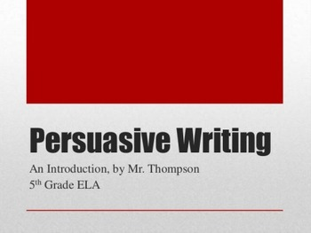 Intro to Persuasive