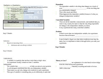 Intro to Physical Science Guided Note Bundle for ISN