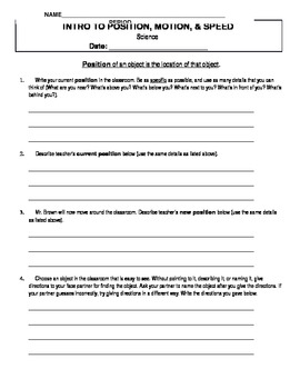 Intro to Physics Guided Notes & Activities