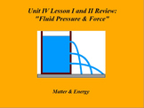 "Intro. to Physics Lesson I & II ActivInspire Review ""Fluid Pressure & Force"""