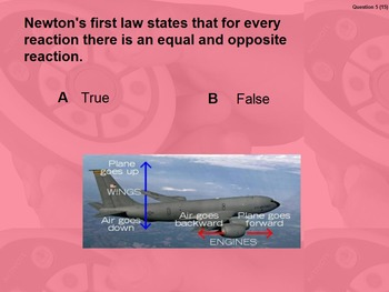 """Intro. to Physics Lesson II ActivInspire Review """"Newton's First & Second Laws"""""""