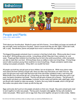 Intro to Plants, People and Plants - Engaging Science Reading