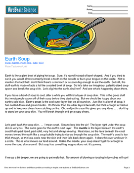 Intro to Plate Tectonics, Earth Soup - Engaging Science Reading