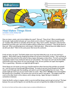 Intro to Plate Tectonics, Heat Makes Things Move - Engaging Science Reading