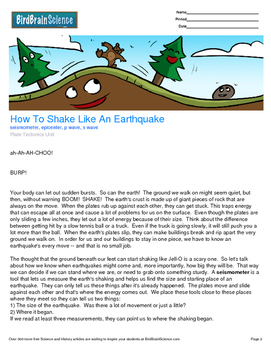 Intro to Plate Tectonics, How to Shake Like an Earthquake - Engaging Science
