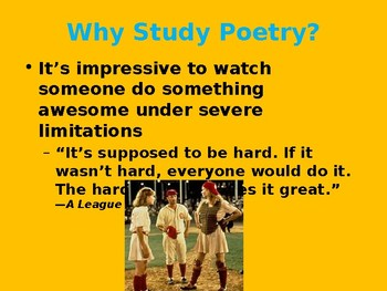 Intro to Poetry Unit PowerPoint Slides