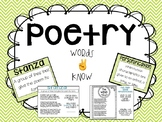 Intro to Poetry and Figurative language: Words to know and activities