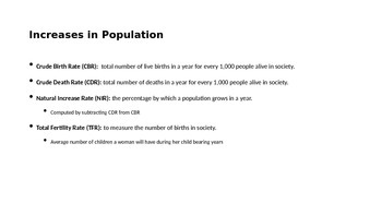 Intro to Population