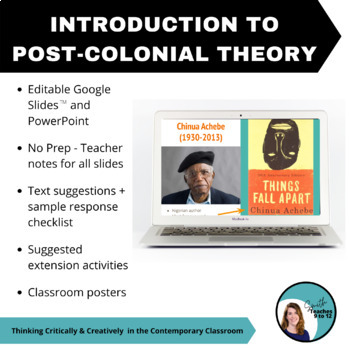 Intro to Post-colonial Theory - PPT, Teacher Notes, Suggested Texts - Secondary