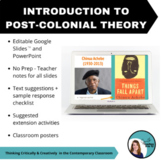 Intro to Post-colonial Theory - PPT, Teacher Notes, Sugges