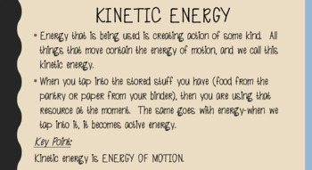 Intro to Potential and Kinetic Energy PowerPoint