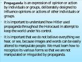 Intro to Propaganda Powerpoint (Holocaust Tie-In)