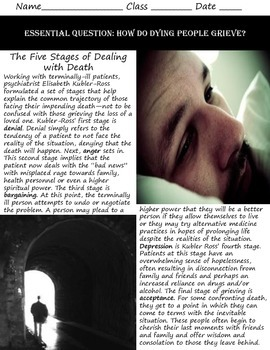 Intro to Psych: Grieving & The Stages of Confronting Death