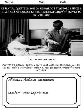 Intro to Psych: Milgram's & Zimbardo's Experiments on Evil
