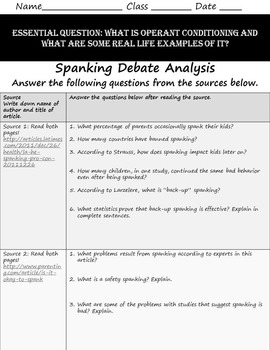 Research papers on spanking