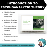 Intro to Psychoanalytic Theory - PPT, Teacher Notes, Sugge