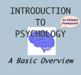 Intro to Psychology PPT Slides, Basic Overview, Background