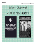 Intro to Psychology: WHOLE SEMESTER Objectives/Reading Guide/Study Guide ?s