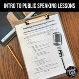 Intro to Public Speaking Mini-Unit: Learning from Experts